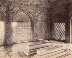 Agra. Itimad-ud-daulah's Tomb. Interior of the upper chamber